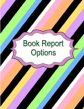 Book Report Guided Writing Options