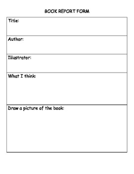 Book Report Organizer