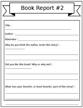 Book Report Pack