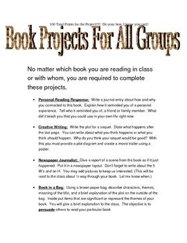 Book Report Pack, Literary Terms