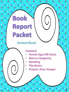 Book Report Packet - Animal Book PDF
