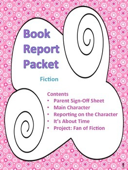 Book Report Packet - Fiction PDF