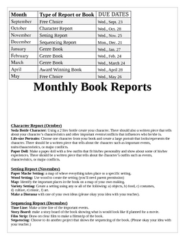 Book Report Page