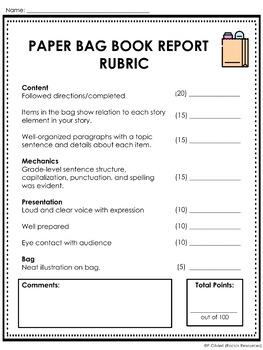 Do brown bag book report