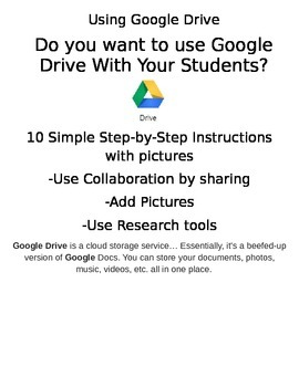 Incorporate Technology- Use Google Drive with Students