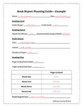 Book Report Planning Guide