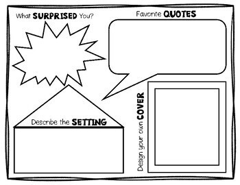 Book Report Poster Template: Works with any Fiction or Non-Fiction Book!