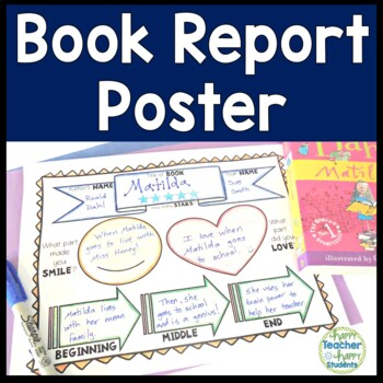 Book Report Poster Template: Works with any Fiction or Non ...