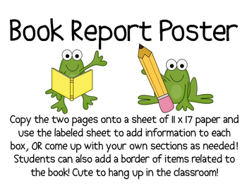 Book Report Poster Project---FREE