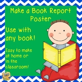 Book Report Poster - super easy to use - Common Core Aligned - Gr. 1-4