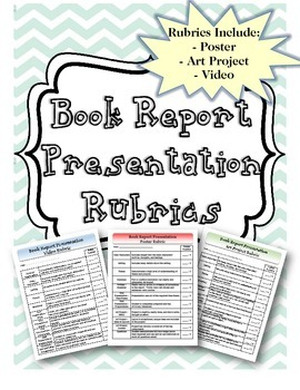 Book Report Presentation Rubric Bundle