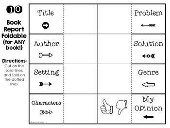 Book Report Project Foldables Pack / Story Response Foldables FOR ANY BOOK