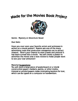 Book Report Project Movie Advertisement
