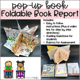 Book Report Foldable Project: Pop-Up Picture Book with Editable Rubrics