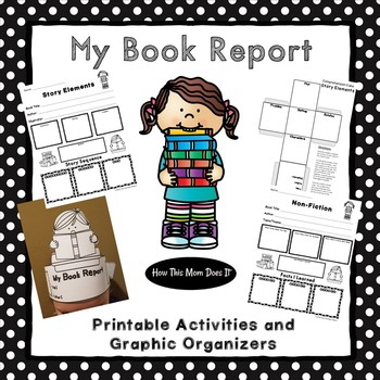 Book Report Projects - Graphic Organizer Posters, Crafts and Activities