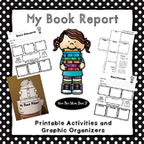 Book Report Projects - Graphic Organizer Posters, Crafts a