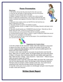 Book Report Projects & Rubrics