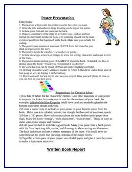 Book Report Projects & Rubrics