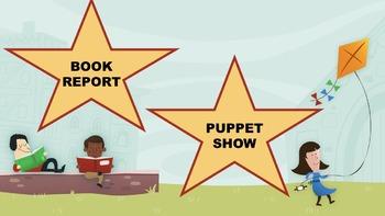 Book Report Puppet Show
