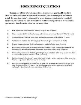 Book Report Questions