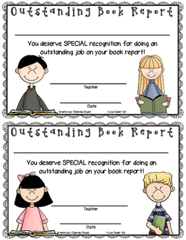 Book Report Recognition Certificates VARIETY PACK