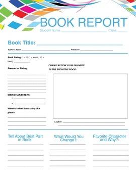 Book  Report + Rubric Form