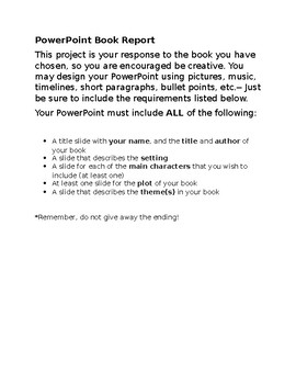 book report rubric powerpoint by christy obando tpt