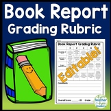Book Report Rubric: This Book Report Grading Rubric is Editable, woo hoo!