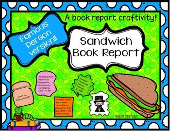 Book Report Sandwich ~famous person~