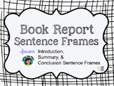 Book Report Sentence Frames