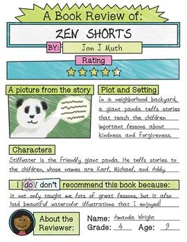 Book Report Sheet –Short 'n' Sweet!