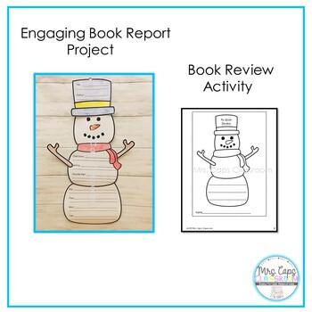 Book Report Snowman 2nd & 3rd Grade