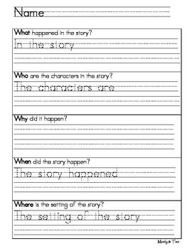 Book Report - Story Elements