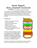 Book Report: Story Element Sandwich