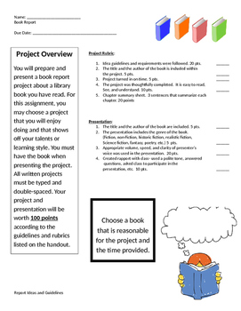 Book Report- Student Choice