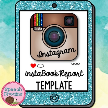 instagram book report template reading classroom fun by speech dreams. Black Bedroom Furniture Sets. Home Design Ideas