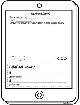 book report mobile template