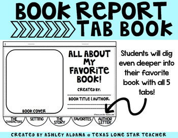 Book Report Tab Book