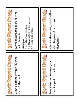 Book Report Task Card Set