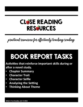 Book Report Tasks
