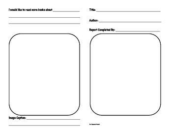 Fiction Book Report Template - Differentiated