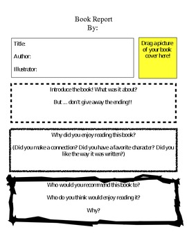 Book Report Template - Differentiation