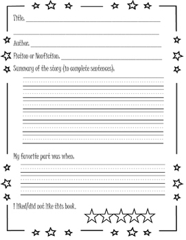 Book Report Template (English and Spanish)