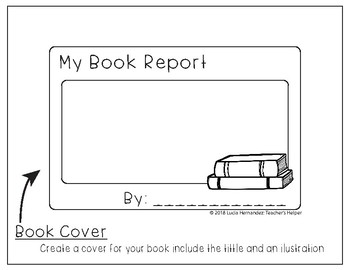 Book Report Template File Folder