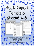 Book Report Template Grades 4-6