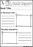 Book Report Template - Preschool