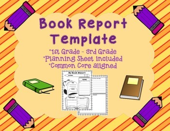 book report template with planning sheet 1st 2nd 3rd grade