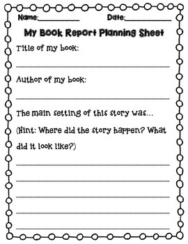 book report template with planning sheet 1st 2nd 3rd grade by ryan b. Black Bedroom Furniture Sets. Home Design Ideas