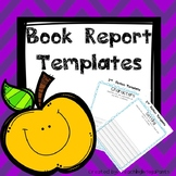Book Report Template for K-2
