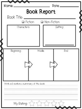 Free book report template 1st grade top college creative essay ideas
